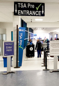 TSA PreCheck Security Line at South Bend International Airport