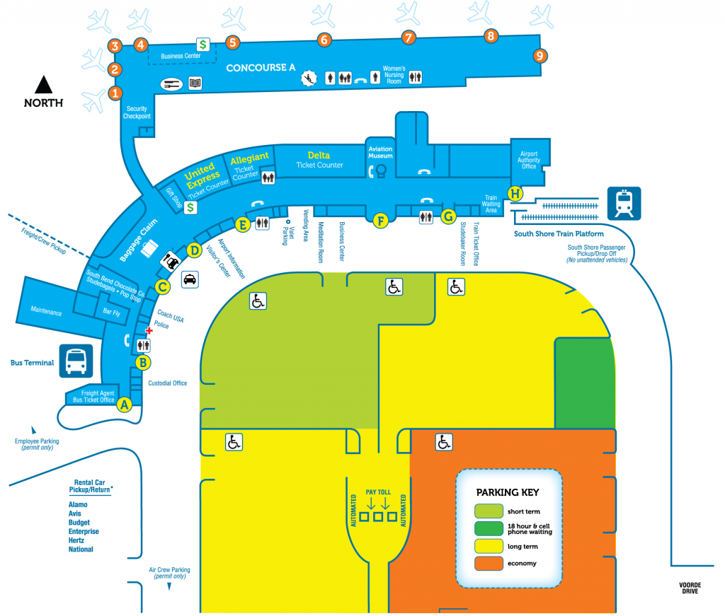South Bend Airport Terminal Map