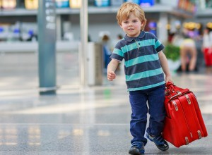 little boy passenger / minor traveling through SBN
