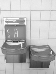 water bottle refill station at South Bend Airport